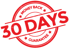 30-day money back guarantee seal