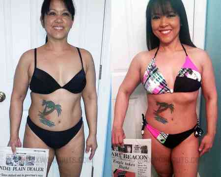 Arleen's before and after photo