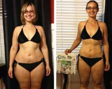 Elizeth's before and after photo