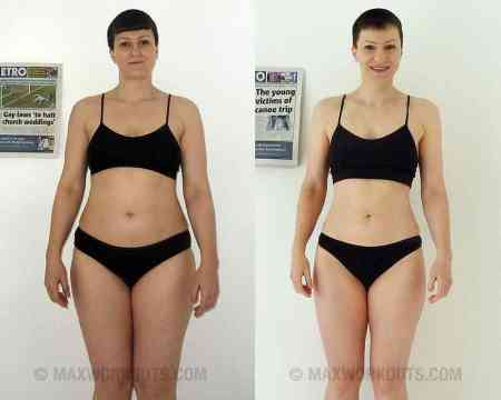 Kerstin's before and after photo