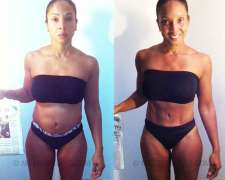 Tiqua's before and after photo