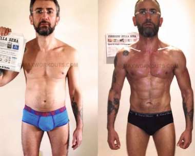 Lean Muscle Body Before And After Marco  s before and after
