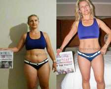 Hanneline's before and after photo