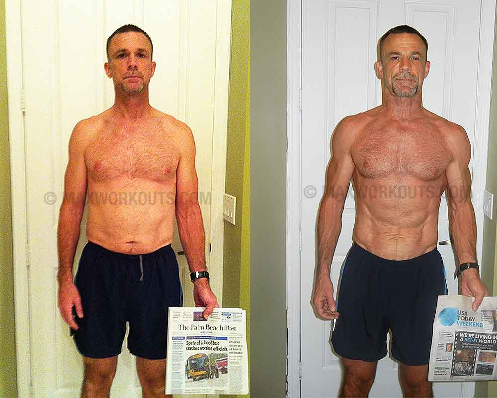 Lean Muscle Body Before And After John from Lake Worth  FL