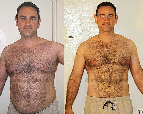 John P.'s before and after photo