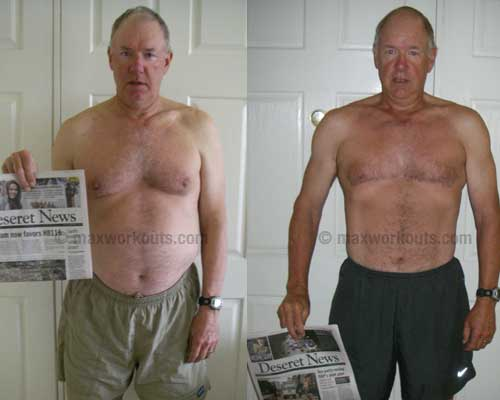 Mike's before and after photo